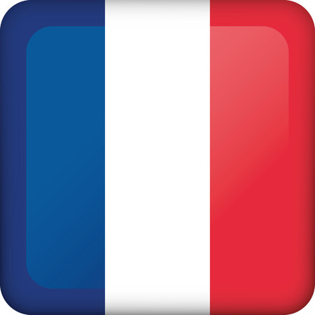 Flag of France. Ideal for catalogs of institutional materials and geography