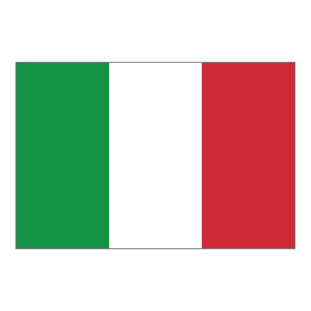 Illustration flag of Italy. Ideal for catalogs of institutional materials and geography