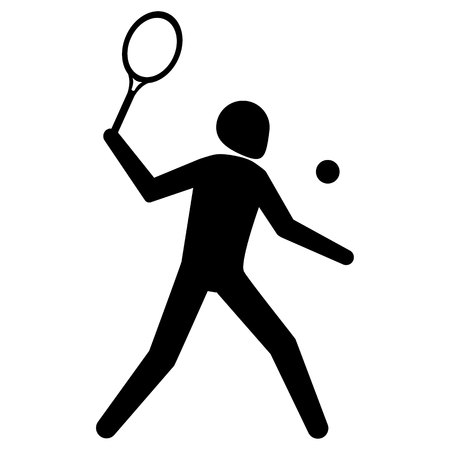 Illustration is tennis sport pictogram, racquetball. Ideal for sports and institutional materials