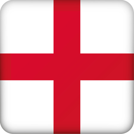 Icon representing England square button flag. Ideal for catalogs of institutional materials and geography