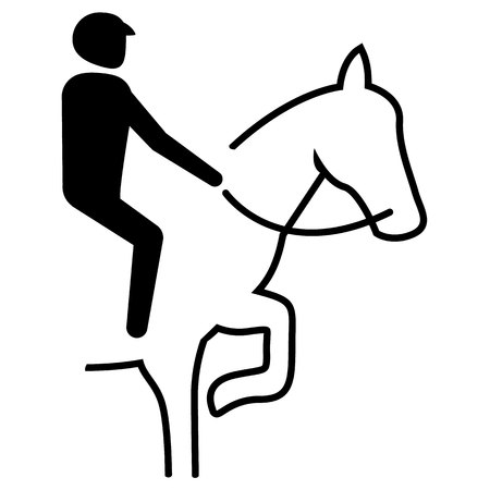 Illustration represents sport pictogram equestrian, dressage, marching mode. Ideal for sports and institutional materials. Banco de Imagens - 92257842