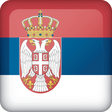 Flag of Serbia. Ideal for catalogs of institutional materials and geography Ilustração