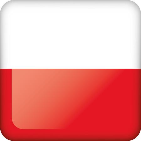 Flag of Poland. Ideal for catalogs of institutional materials and geography
