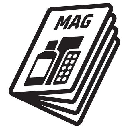 Pictogramme d'icône, Magazine, catalogue ou encart de produit, pour point de vente et promotion. Idéal pour les catalogues, le matériel d'information et publicitaire et les médias