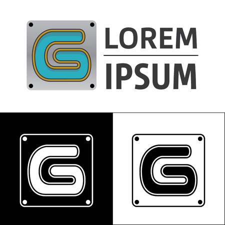 Icon, logo, conceptual letter G. Ideal for visual communication, informational and institutional material