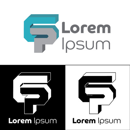 Icon, logo, conceptual letter G, letter P, letter C. Ideal for visual communication, informational and institutional material