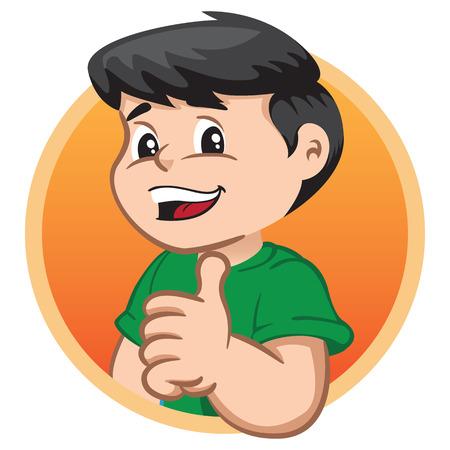 La ilustración muestra a un personaje infantil haciendo un signo correcto. Ideal para información sanitaria e institucional