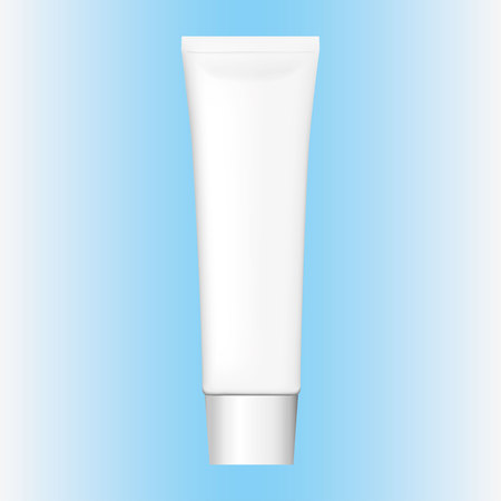Illustration of an object bottle of cream, gel, ointment, cosmetic or medicine bottle. Ideal for product catalogs and cosmetic hygiene information Ilustração