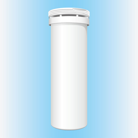 Illustration of object packaging bottle. cosmetic, medicine, supplement and vitamins. Ideal for catalogs, informative and catalogs 3D packaging