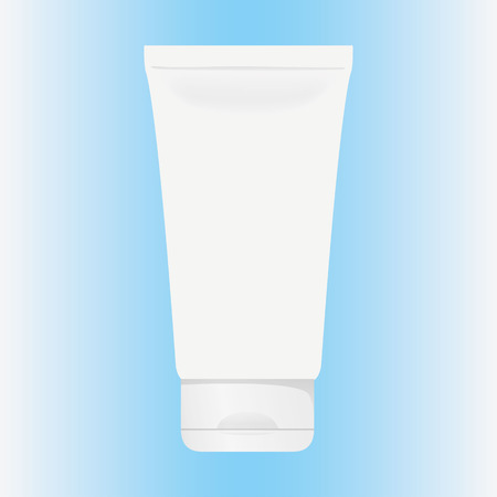 Illustration of an object bottle of cream, gel, ointment, cosmetic or medicine bottle, front. Ideal for product catalogs and cosmetic hygiene information