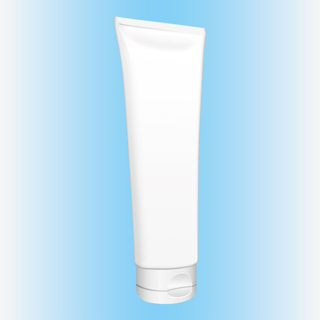 Illustration of an object bottle of cream, gel, ointment, cosmetics or medicine bottle, perspective. Ideal for product catalogs and cosmetic hygiene information