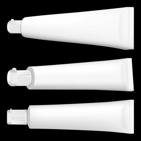 Illustration of an object bottle of cream, gel, ointment, cosmetic or medicine bottle, various. Ideal for product catalogs and cosmetic hygiene information
