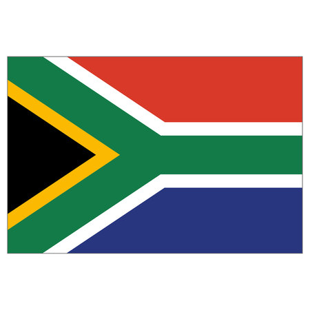 Illustration flag of South Africa. Ideal for catalogs of institutional materials and geography
