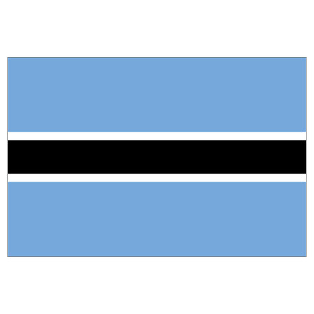 Illustration flag of Botswana. Ideal for catalogs of institutional materials and geography Ilustração