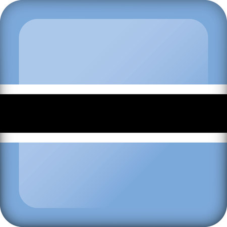Flag of Botswana. Ideal for catalogs of institutional materials and geography