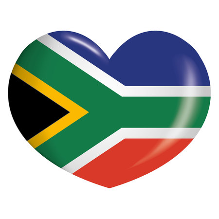 Flag of South Africa. Ideal for catalogs of institutional materials and geography