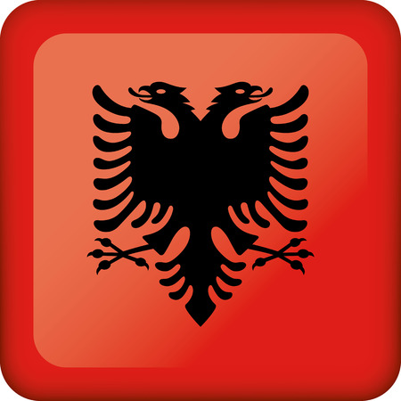 Flag of Albania. Ideal for catalogs of institutional materials and geography Ilustração