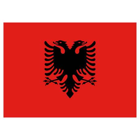 Illustration flag of Albania. Ideal for catalogs of institutional materials and geography