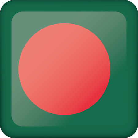 Flag of Bangladesh. Ideal for catalogs of institutional materials and geography