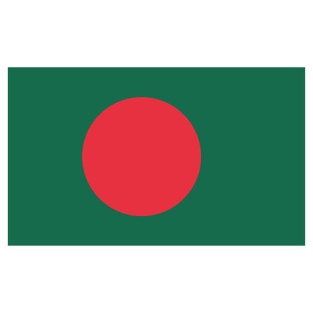 Illustration flag of Bangladesh. Ideal for catalogs of institutional materials and geography