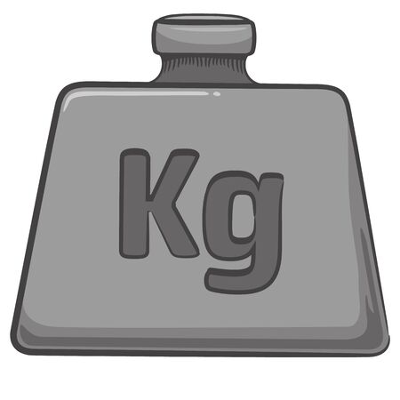 Illustration represents, a weight, a kilo. Ideal for educational and institutional materials