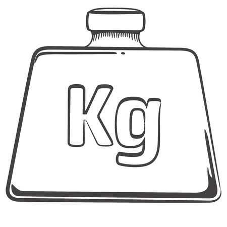 Illustration depicts, a weight, a kilo art line. Ideal for educational and institutional materials