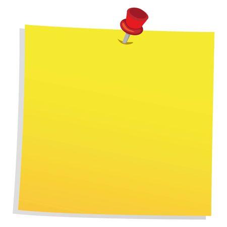 Nachrichtenwarnung, Ticket, Web-Post, Erinnerung, Papier mit Reißzwecke. Ideal für informative und institutionelle