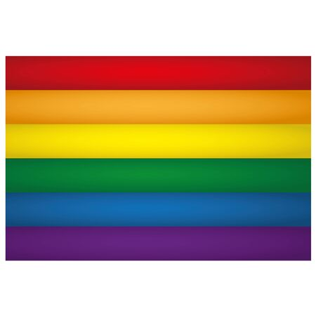 LGBT banner illustration. Ideal for catalogs of institutional materials homosexual flag