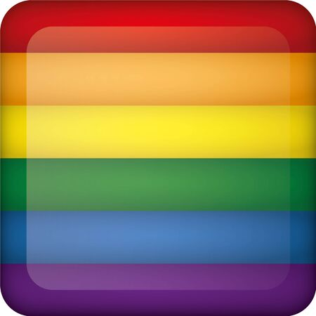 Flag of Germany square button flag. Ideal for catalogs of institutional materials homosexual flag Illustration