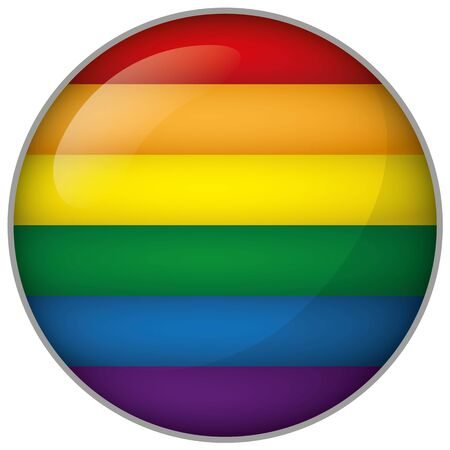 Icon representing round button Germany flag. Ideal for catalogs of institutional materials homosexual flag Illustration