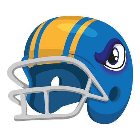 Illustrations of american football helmet, safety equipment. Ideal for institutional and educational materials Ilustração