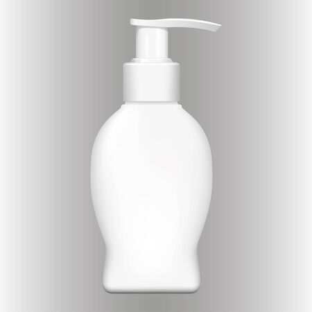 Illustration object liquid soap cosmetic packaging, pump. Ideal for catalogs, newsletters and catalogs 3D packaging Ilustração