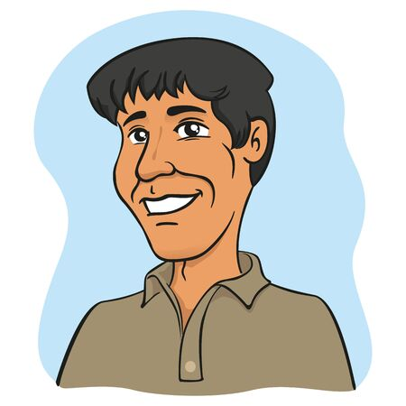Man with indian, arabic, middle eastern characteristics. Ideal for educational and institutional materials