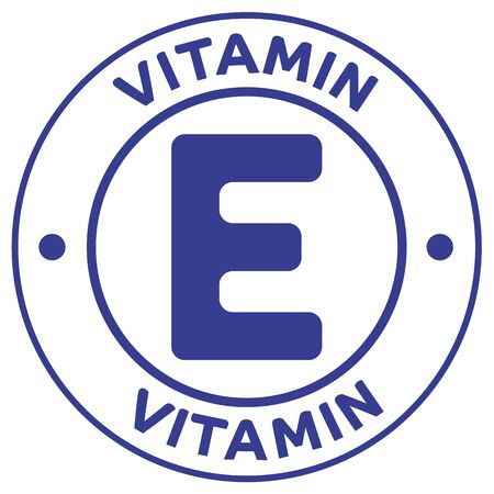 Icon illustration, Vitamin E. Ideal for catalogs, cosmetics and institutional newsletters Ilustração