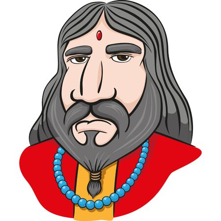 Mascot illustration a guru, sage, religious master. Ideal for catalogs, newsletters and institutional material