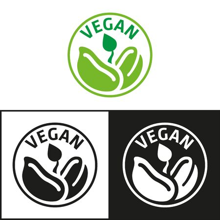 Vegan product icon and symbol. Ideal for infographics and institutional materials