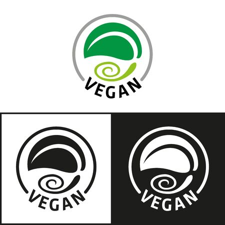 Vegan product icon and symbol. Ideal for infographics and institutional materials  イラスト・ベクター素材