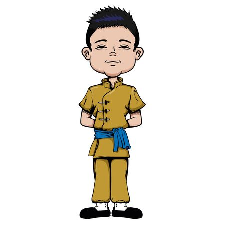 Boy with features, Asian child, Chinese, Asia. Ideal for educational and institutional materials