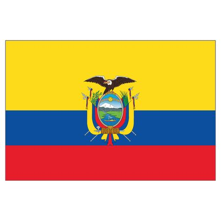 Illustration of the flag of Ecuador. Ideal for catalogs of institutional materials and geography