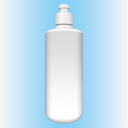 Illustration of cylindrical packaging object, liquid soap, alcohol gel, cosmetic. Ideal for catalogs, newsletters and 3D packaging catalogs
