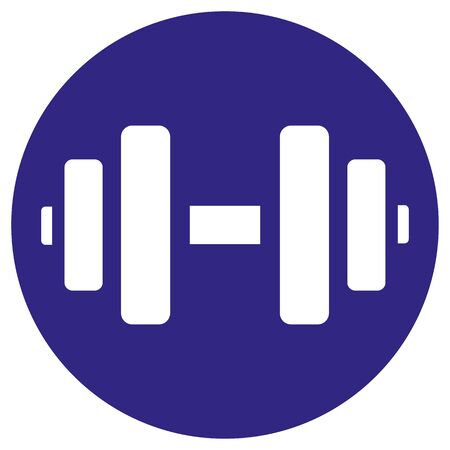 692/5000 Illustration represents pictogram of weight, strength, dumbbell, exercises. Ideal for sports and institutional materials