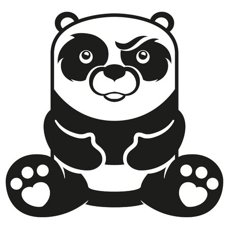 Giant panda mascot illustration. Ideal for veterinary materials, biology and zoology Ilustração