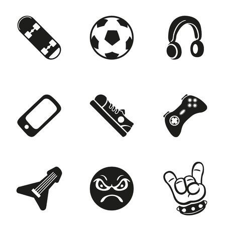 Set icons pictogram, young people, boy, girl. Ideal for catalogs, newsletters and institutional material Ilustração