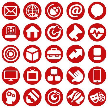 Set icons pictogram, marketing, office, advertisement. Ideal for catalogs, newsletters and institutional material Ilustração