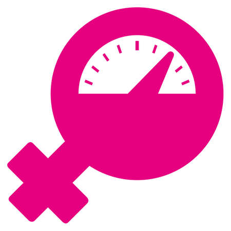Icon female PMS symbol, premenstrual tension. Ideal for catalogs, newsletters and institutional material