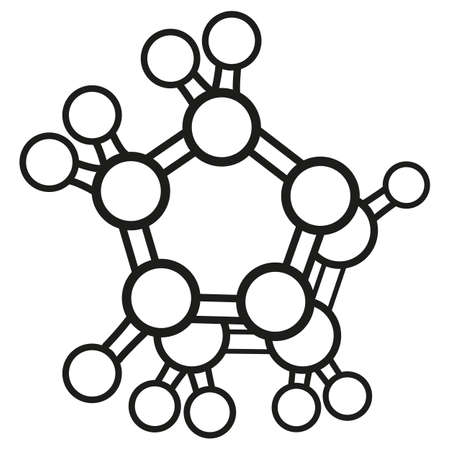 Illustration representing an icon or pictogram element Minerals Chelanates, ideal for educational books and institutional material