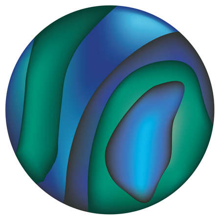 Illustration represents an abalone colored abstract background texture button. Ideal for artistic and institutional materials Ilustração