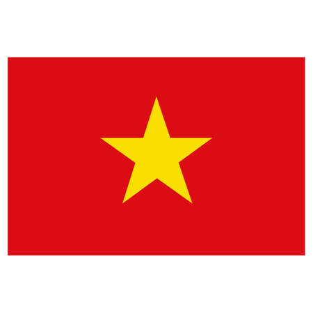 Icon representing Vietnam flag. Ideal for catalogs of institutional materials and geography