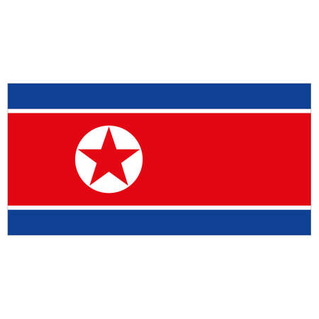 Illustration flag of North Korea. Ideal for catalogs of institutional materials and geography