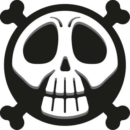 Skull icon, skull infographics, danger sign, pirate. Ideal for informative and educational material
